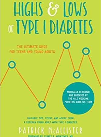 Book cover: Highs and Lows of Type 1 Diabetes