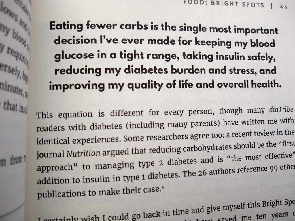Book excerpt about benefits of a low carb diet